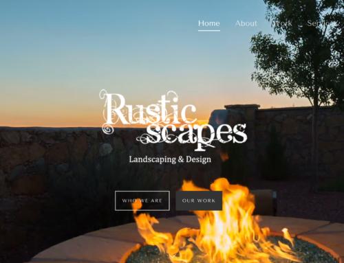 Rusticscapes landscaping & design website redesign