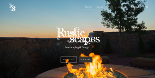 Rusticscapes Landscape & Design. Website redesign by Mahalo Media Group.